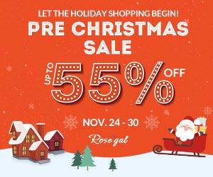 Pre Christmas Sale: Up to 55% OFF+Free Shipping