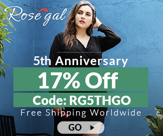 Rosegal 5th Anniversary:                                     17% OFF coupon+Free Shipping
