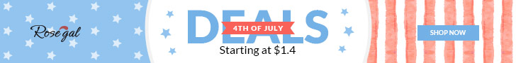 4TH OF JULY: Starting at $1.4 with FREE SHIPPING