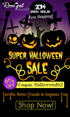 Super Halloween Sale! 6% OFF Coupon: HalloweenRG. Terrific Retro Trends to Impress You! (Ends: Nov,30,2014)