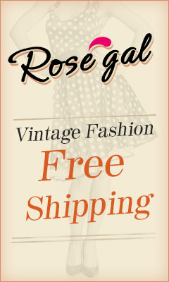 RoseGal.com: Global Free Shipping for Vintage Fashion Apparels and Accessories
