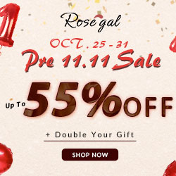 Share to double your gift and enjoy up to 55% OFF in Rosegal's Pre 11.11 Sale!