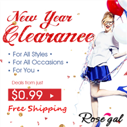 New Year Clearance: Free Shipping + Low to $0.99 for Great Deals @rosegal.com