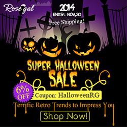 Super Halloween Sale! 6% OFF Coupon: HalloweenRG. Terrific Retro Trends to Impress You! (Ends: Nov,30,2014)