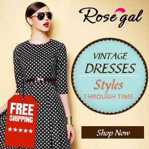 Vintage Dresses at RoseGal.com! Free Shipping for Styles Through Time!