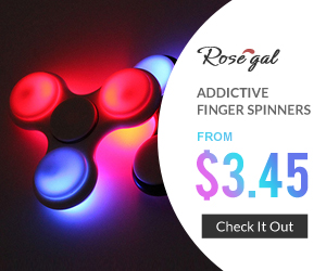 Addictive Finger Spinners: From $3.45, buy more save more with coupon + FREE SHIPPING