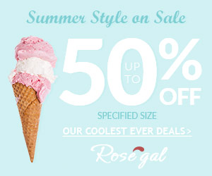 Up to 50% OFF for Specified Size @ Rosegal on Sale