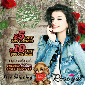 New Fall Fashion Promotion! Save $5 off $49+, $10 off $89+ with Coupon: fallfave. Ends: Sep,15.