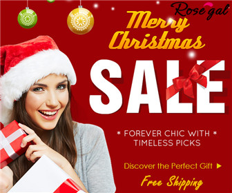 UP to 60% OFF + worldwide free shipping for best Christmas gifts including sweaters, boots, bags, scarves, jewelries, etc @rosegal.com!