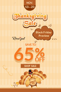 Thanksgiving: Save to 65% and Free Shipping