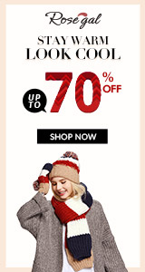 Rosegal Winter: Up to 70% OFF+Free Shipping