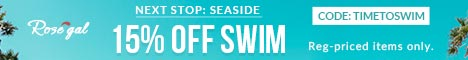 Swimwear: 15% OFF + Free Shipping
