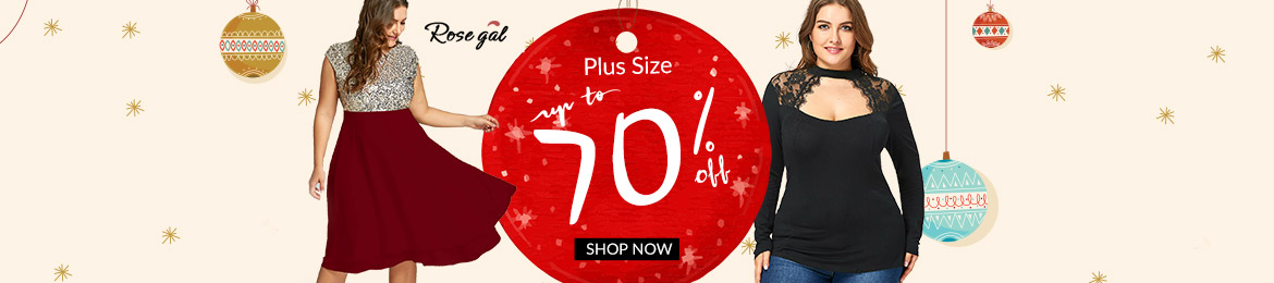 Plus Size: Up to 70% OFF+Free Shipping