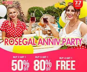"Code:""RG7YS"" Get 20% off Rosegal 7th ANNIV. Sale?unavailable for sale/clearance items?"
