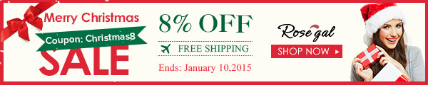 Merry Christmas: Global Free Shipping + 8% OFF with Coupon: Christmas8. (Ends: January 10,2015)