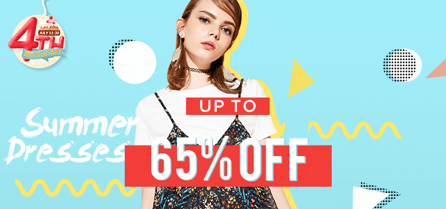 Rosegal 4th Anniversary: Summer Dresses, Up to 65% OFF