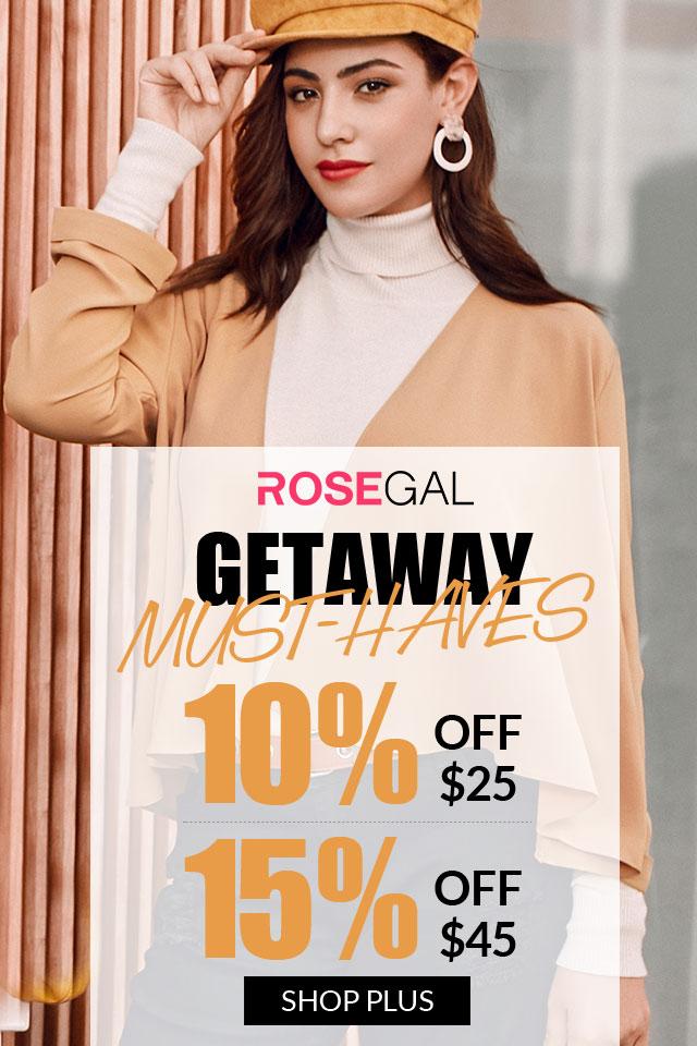 Getaway Must-Haves, 10% OFF $25+, 15% OFF $45+