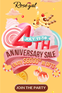 Open the box and find $6000 gifts before 13th July! Celebrate Rosegal's 4th Anniversary Sale, find various items start from $0.99.