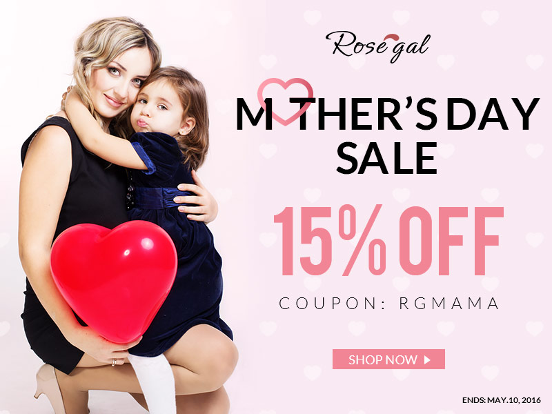 "Thank you, dear mom! Enjoy 15% off with coupon code ""RGMAMA"" and free shipping worldwide. (Ends: May.10, 2016)"