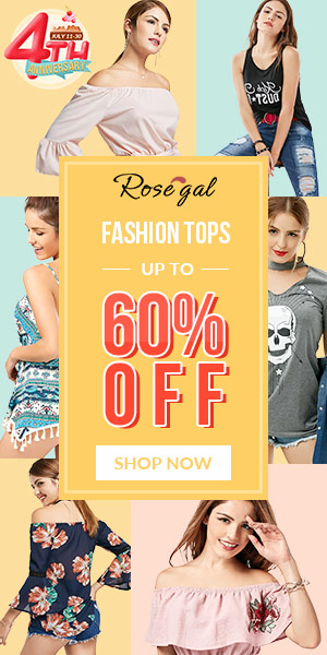 Rosegal 4th Anniversary: Fashion Tops, Up to 60% OFF