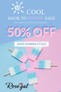 Back-to-School Sale: Up to 50% OFF+FREE SHIPPING