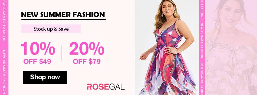 New Summer Fashion-10% off $49, 20% off $79