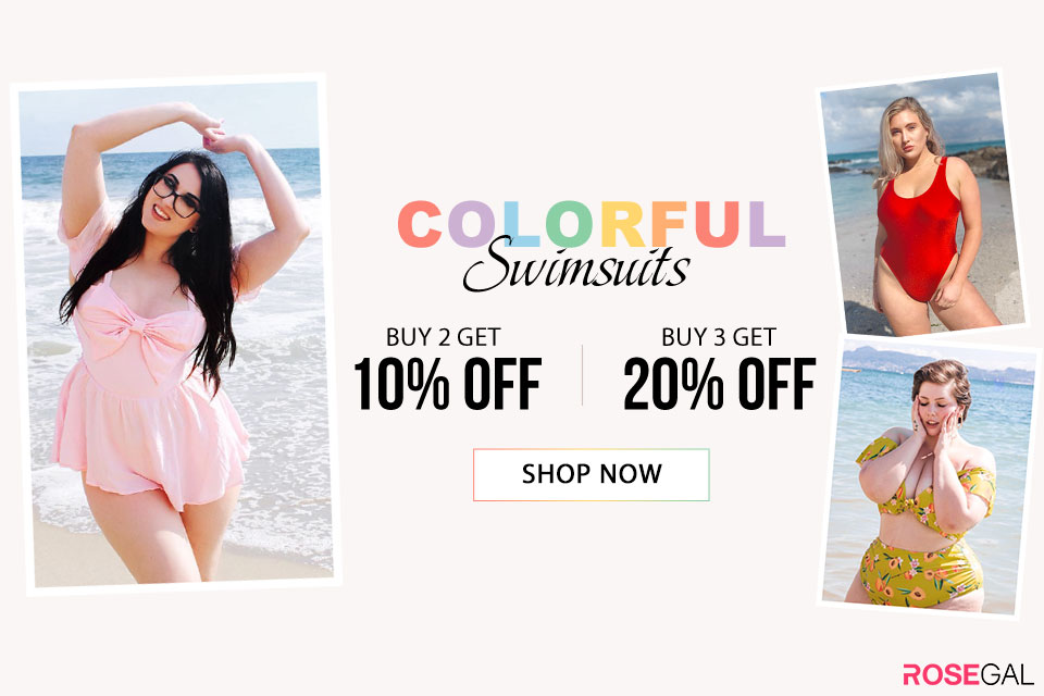 Colorful Swimwears--Buy 2 Get 10% Off?Buy 3 Get 20% Off