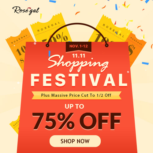 11.11 Shopping Festival: UP TO 75% OFF, share to save more