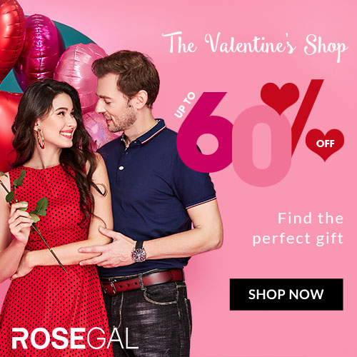 Valentine's Day SALE! Up To 60% OFF on Your Order