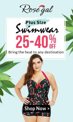Rosegal Plus Size Swimwear: 25% - 40% OFF + FREE SHIPPING
