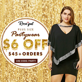 Plus Size Partywear: $6 OFF+Free Shipping