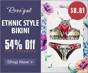 Ethnic Style bikini_Rosegal