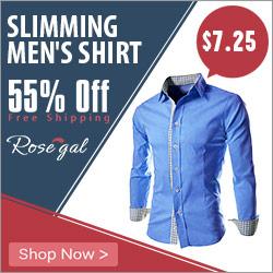 slimming men's shirt_Rosegal