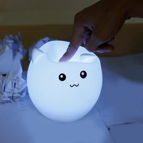 43% OFF for Cartoon Silica Gel LED Colorful Ombre Night Light +