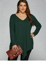 Plus Size Long Sleeve T-Shirt: 49% OFF with FREE SHIPPING
