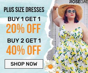 Plus Size Dresses--BUY 1 GET 20% OFF?BUY 2 GET 40%