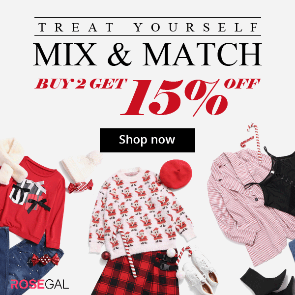 ROSEGAL Holiday Mix&Match, Buy 2 Get 15% Off