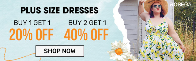 Plus Size Dresses--BUY 1 GET 20% OFF?BUY 2 GET 40%
