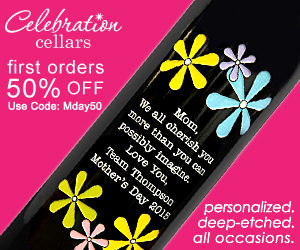 Mother's Day Etched Wines