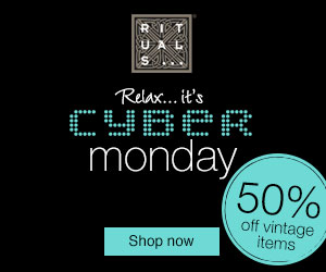 Get 50% off vintage items during the RITUALS... Cyber Monday Sale!