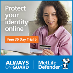 Metlife Defender- Always On Guard - Protect Your Identity Online - FREE TRIAL