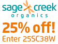 sage creek organics 25% off