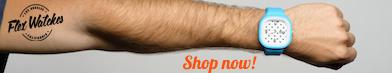 Watch hand banner