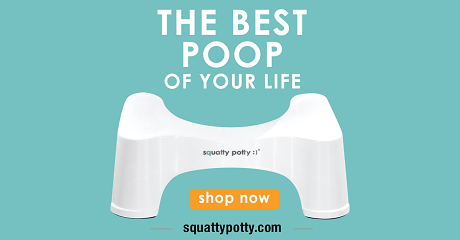 Squatty Potty is a good low-FODMAP diet resource you can buy here