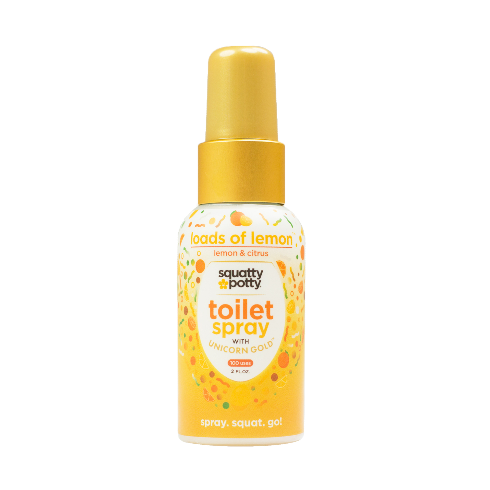 Unicorn Gold is a 'before-you-squat' potty spray. Just a few sprays of Unicorn Gold into the toilet bowl and that, skunky, putrid bathroom stench stays where it belongs – trapped deep below the surface of the toilet water. Made with REAL GOLD!
