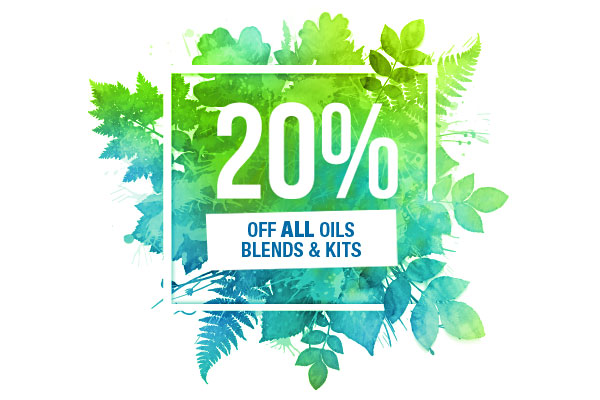 20% off all oils
