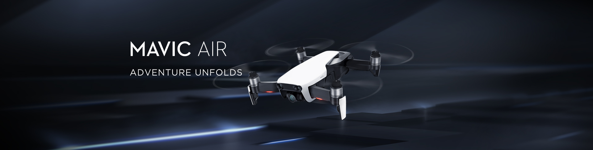 DJI Mavic Air - Your new ultraportable, foldable camera drone.