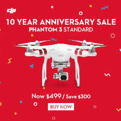 Save $300 on DJI Phantom 3 Standard with DJI Tenth Anniversary Promotion