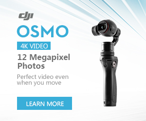 DJI Osmo - 4K Video and 12 Megapixel Photos - Perfect video even when you move