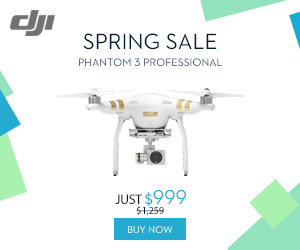 Save $260 on DJI Phantom 3 Professional - DJI Spring Sale 2016